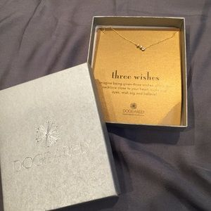 Dogeared Three Wishes Necklace (new in box)